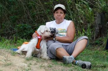 Maria Pineda con Shelson y Lulu