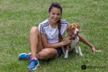 Gabriela Crespo junto a Sophy