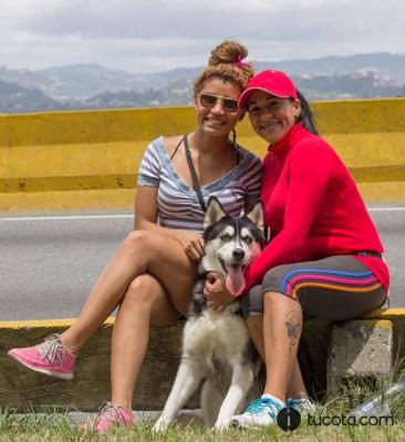 Leidy y Deisy junto a Kyra