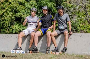 Alexander, Rafael y Javier en la Cota Mil